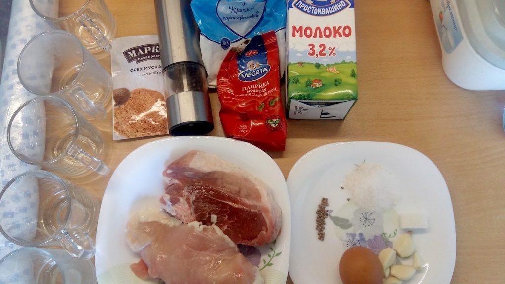 Ингредиенты для докторской колбасы